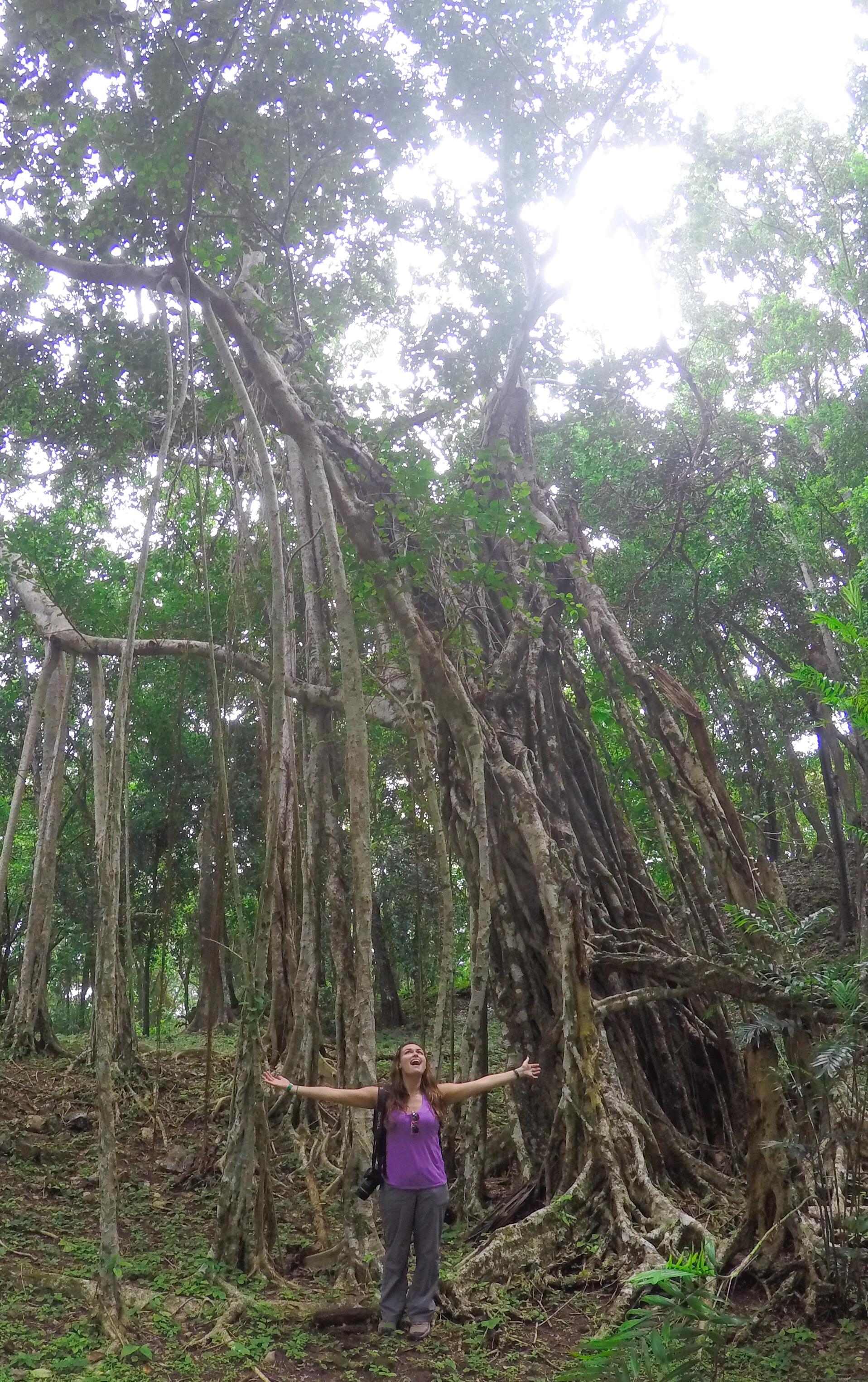 Myself in the jungle around Topoxte.
