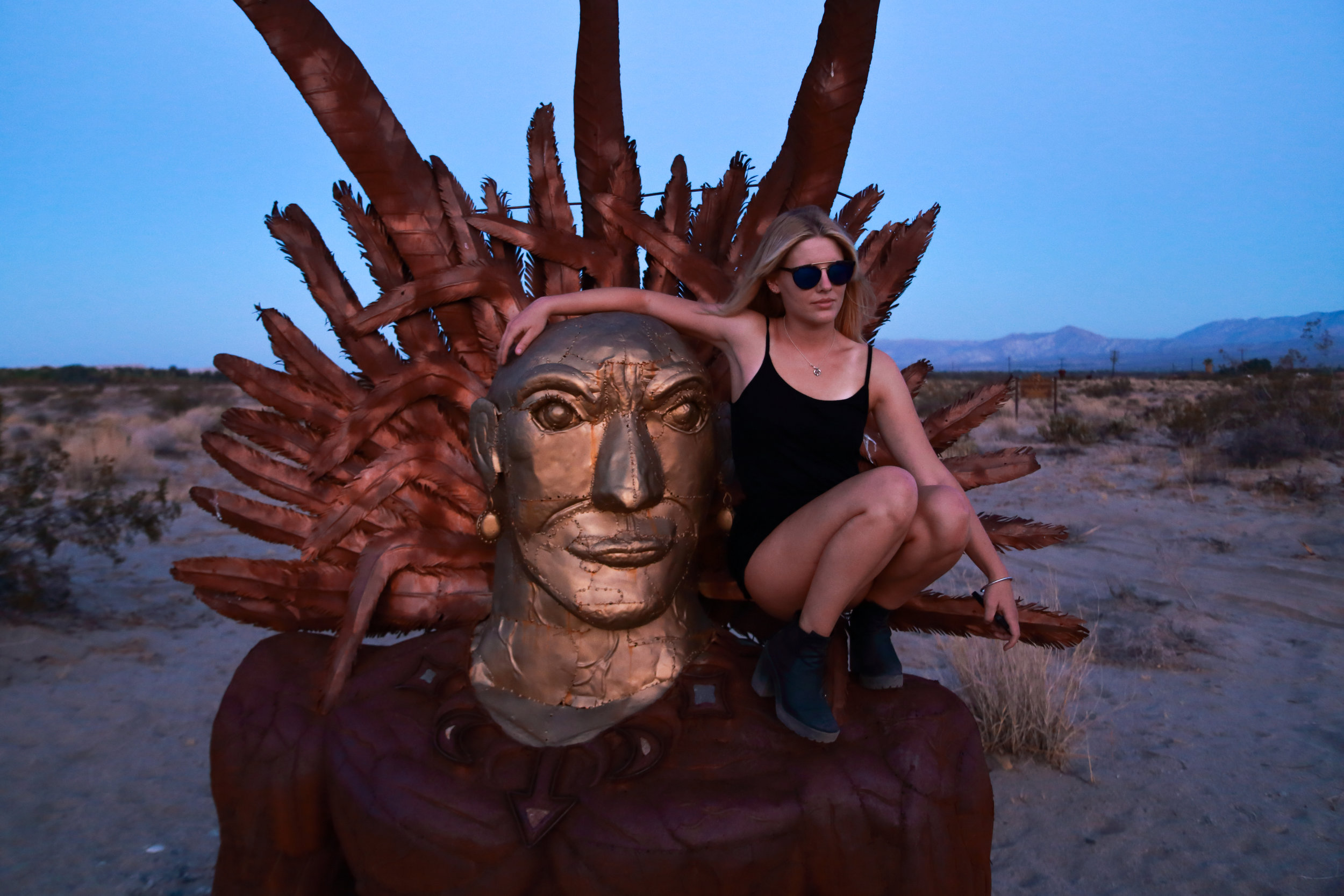More art by Ricardo Breceda in the heart of the desert.