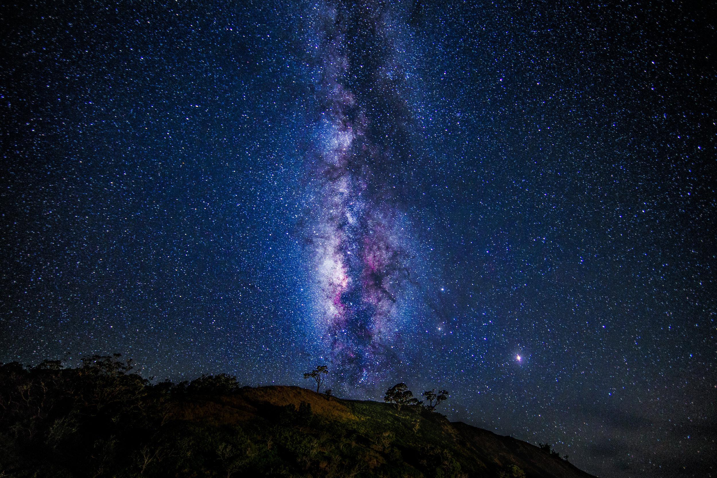 Mauna Kea under the Milky Way. On the Big Island of Hawai'i.