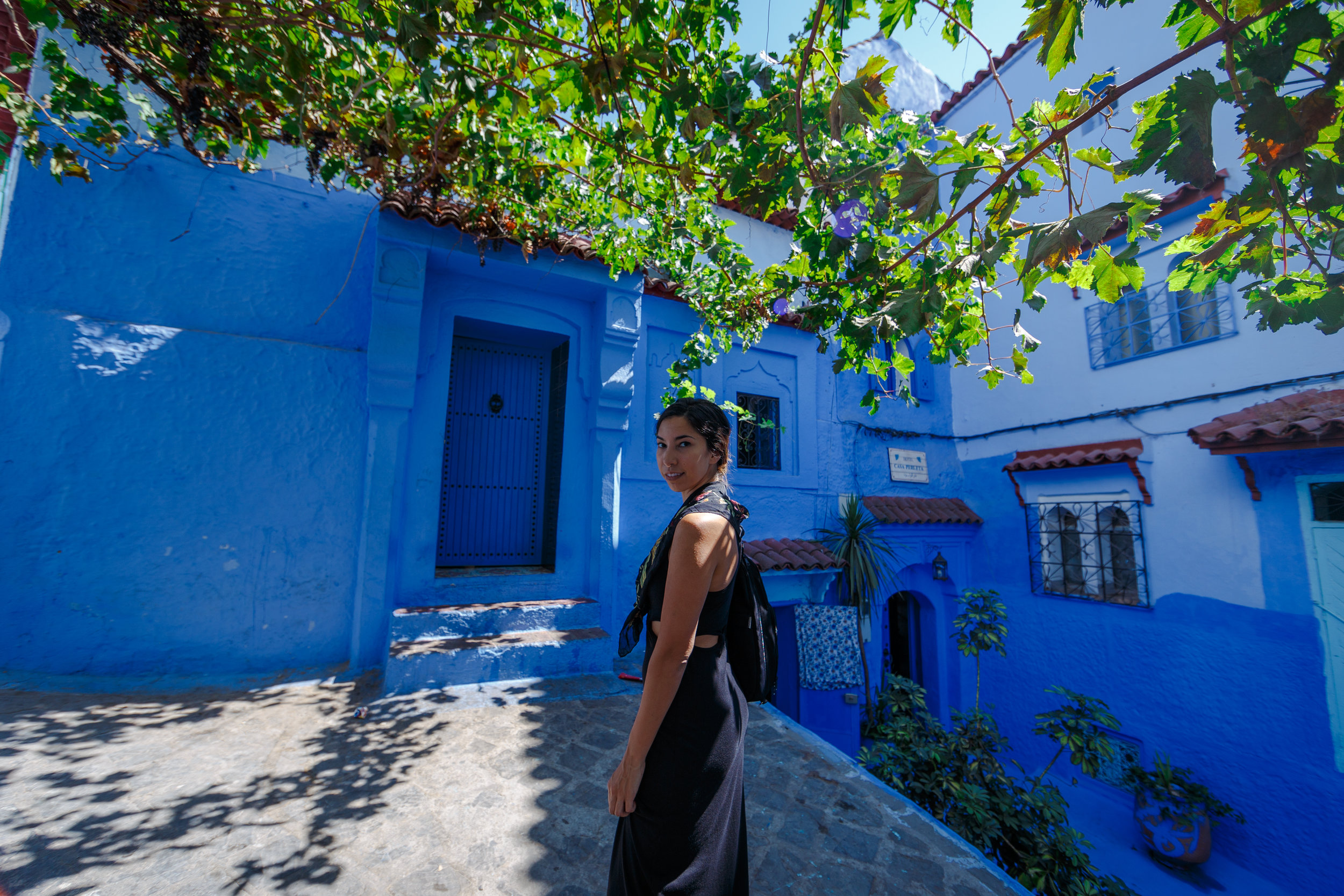 Exploring the streets of Chefchaouen.