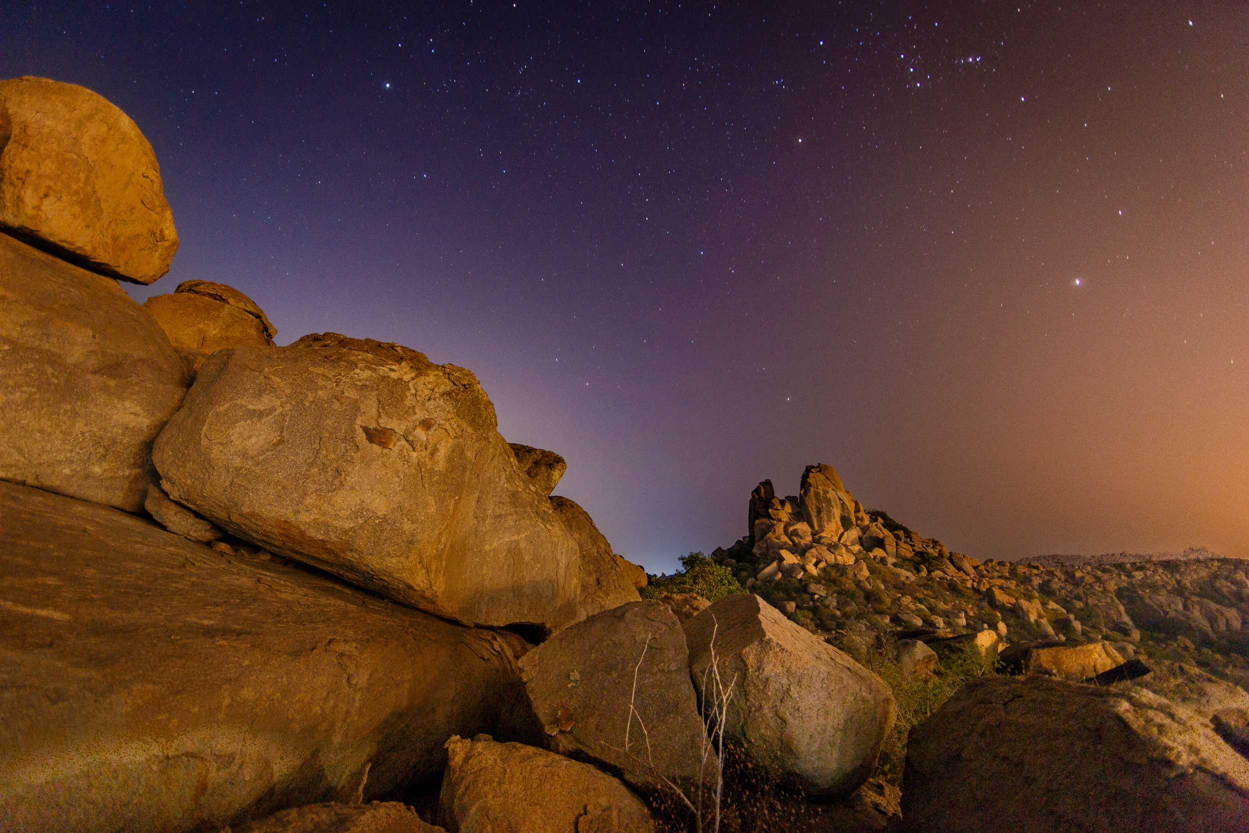 Boulders Under the Sky