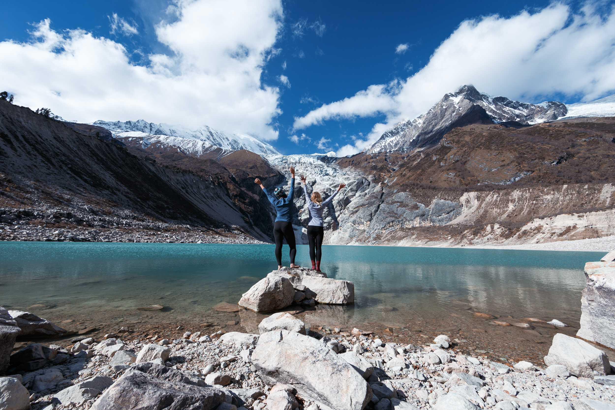 Ally and I taking in the insane landscape at Birendra Tal.