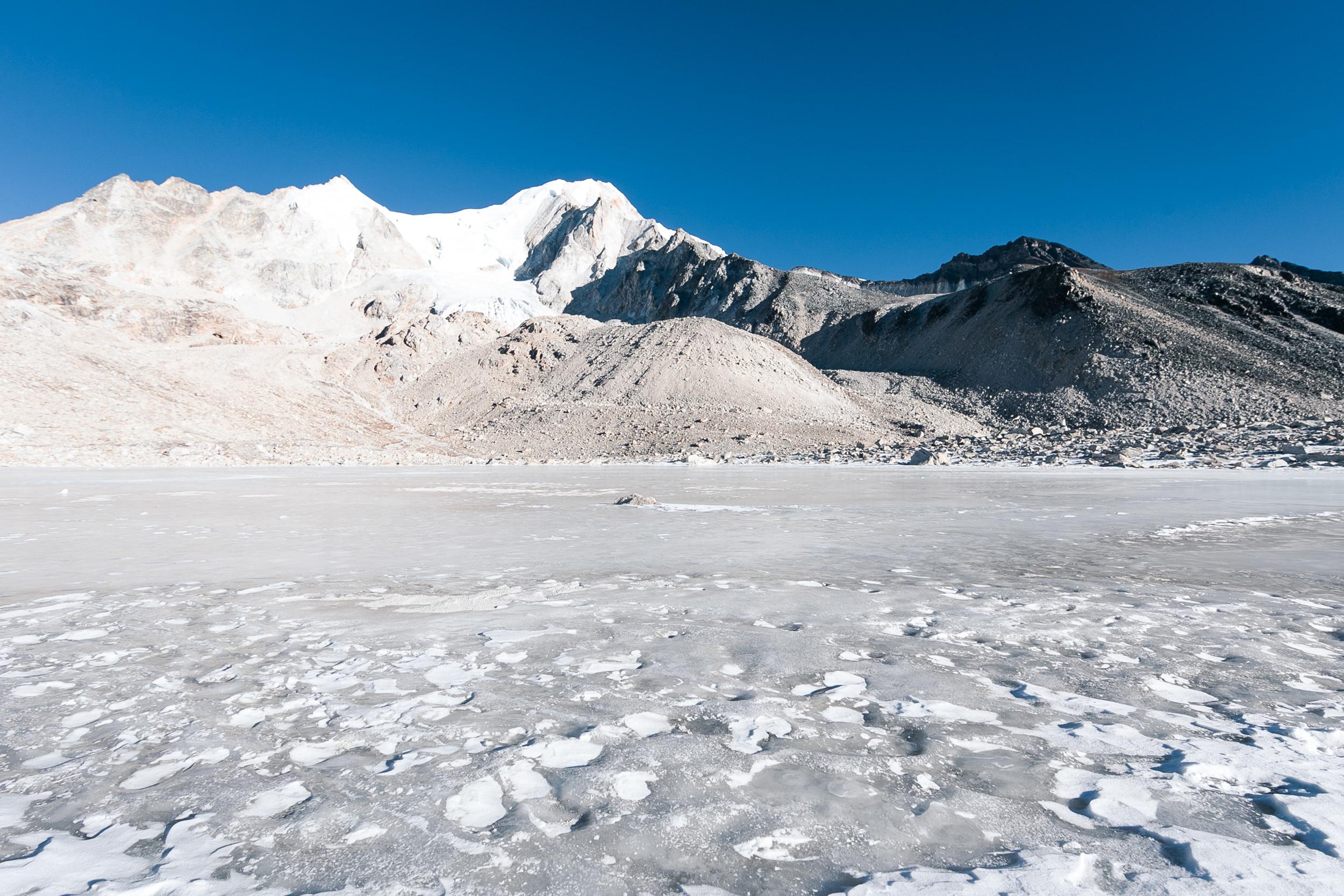 The treacherous frozen lakes to navigate through.