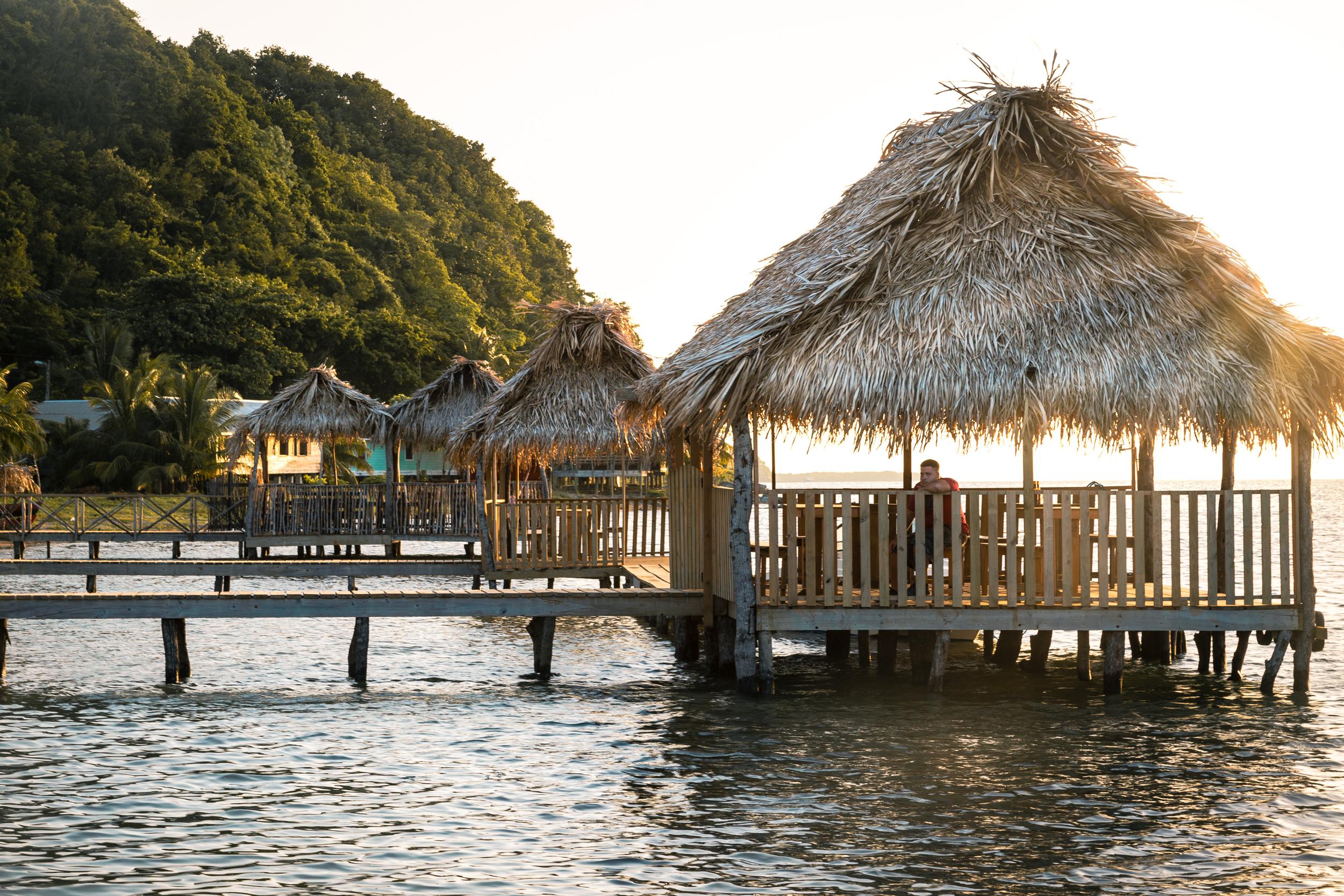 Caribbean Huts Sunset