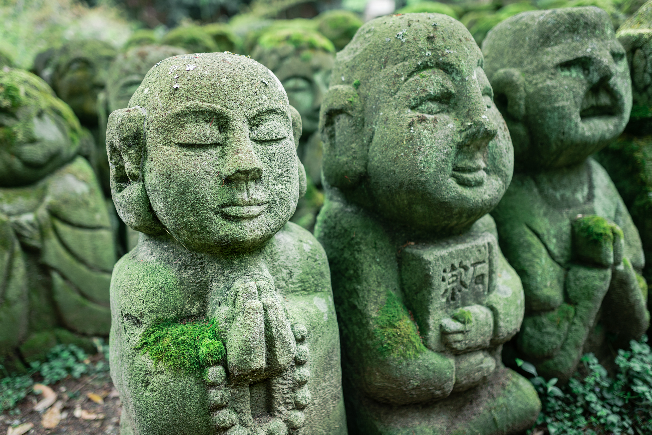 Over 1,200  rakan  statues inhabit the temple grounds.