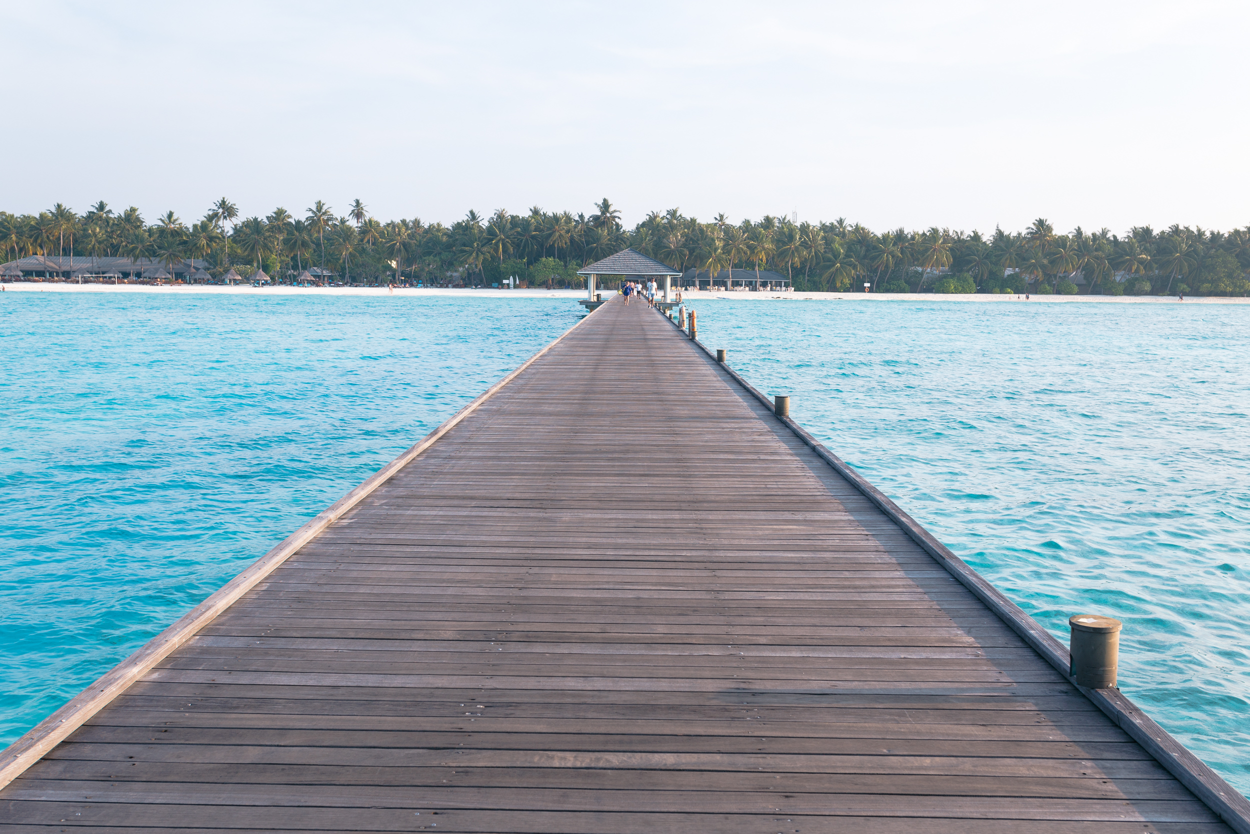 Endless Dock in the Maldives