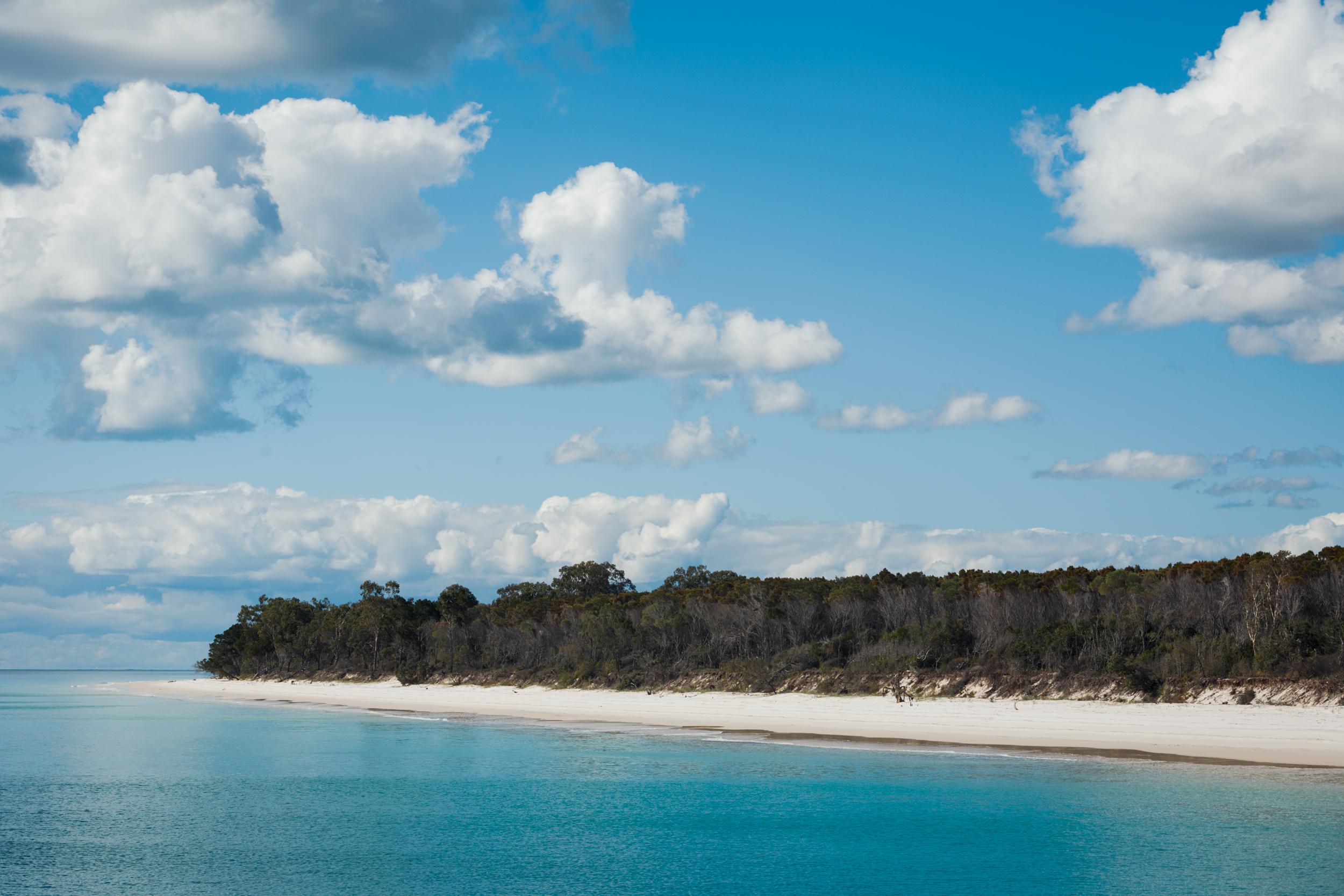 Offshore of Fraser Island.