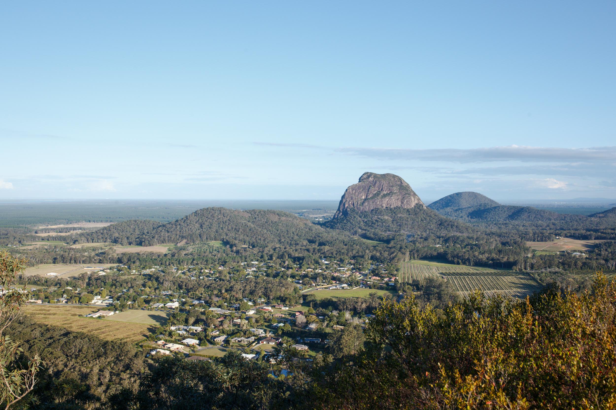 Mount Tibrogargan in the distance.