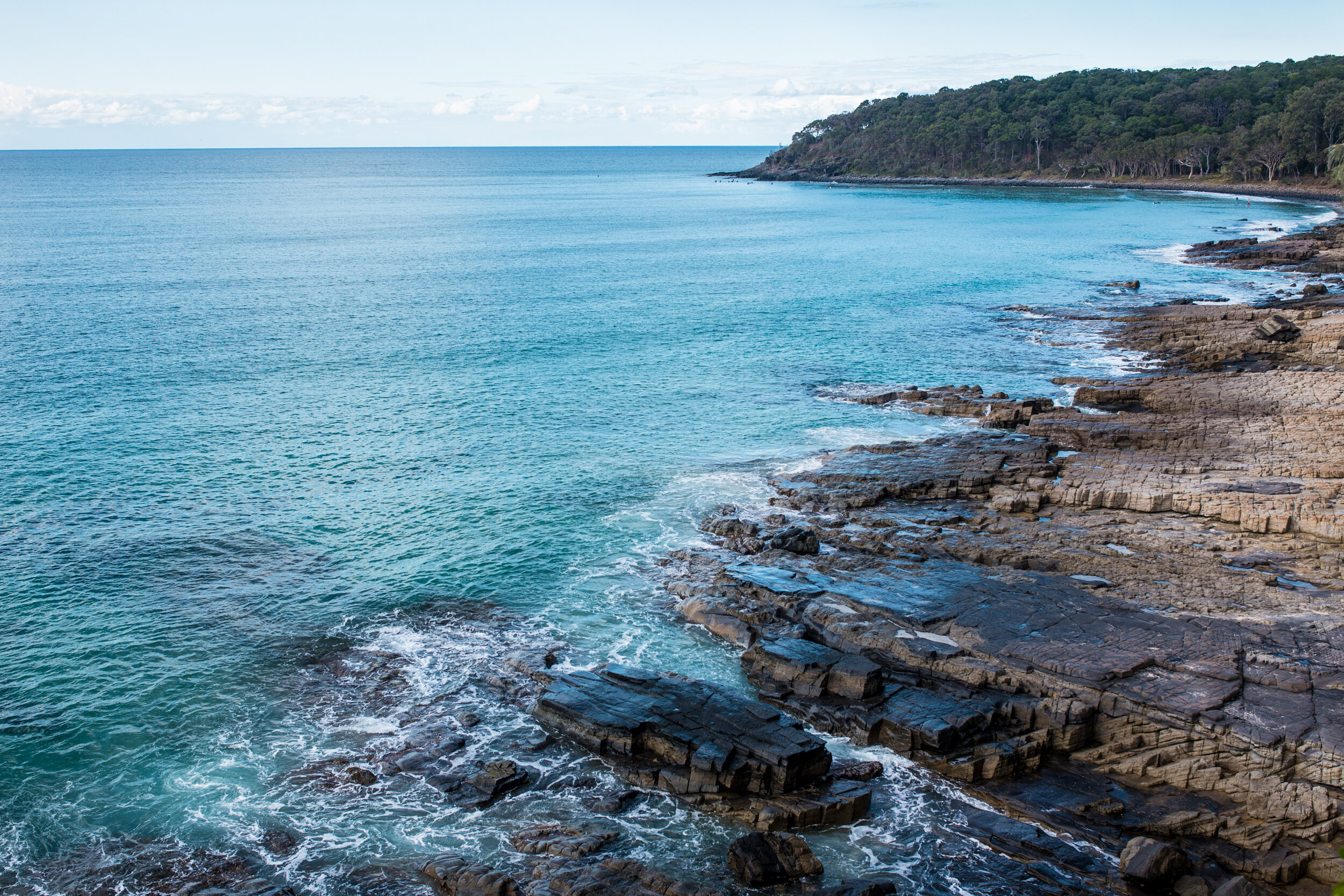 Looking out on the coastline from Boiling Pot in Noosa National Park.