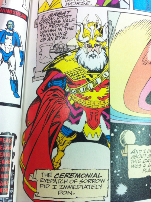 Too bad Odin was dead by this point in the movies.  Infinity Gauntlet  (c) Marvel Comics