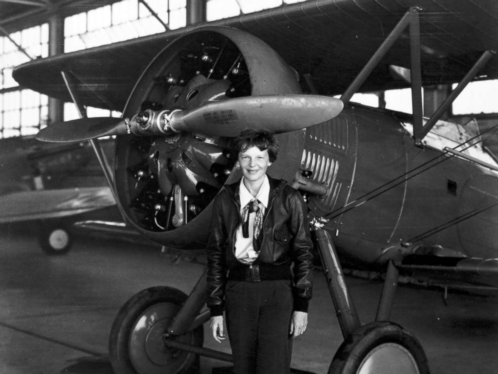 Ms Earhart looking sassy in front of a plane!