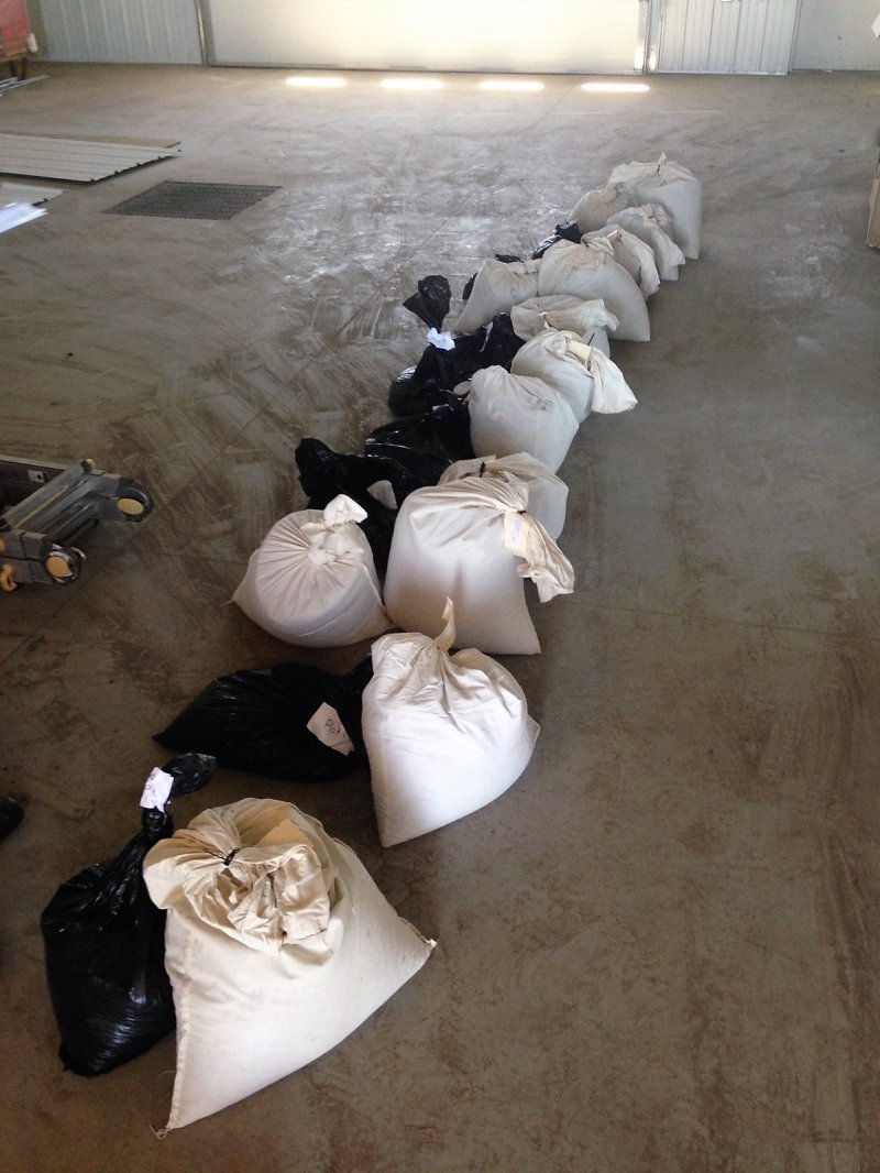 Polycrop bags mixed and ready for seeding!
