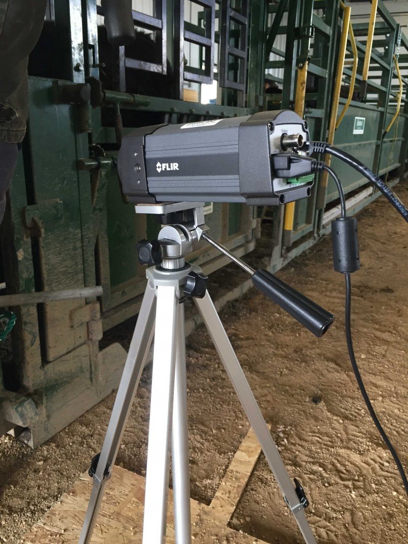 The infrared camera used in the project