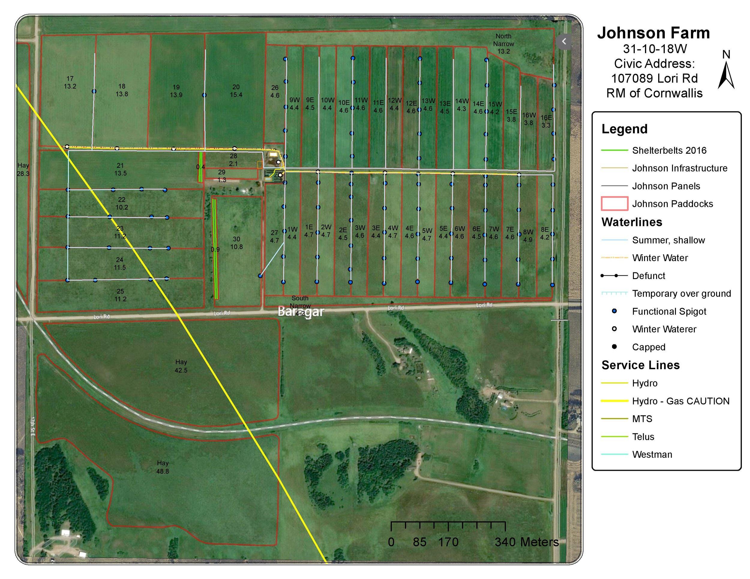 Johnson Farm Map