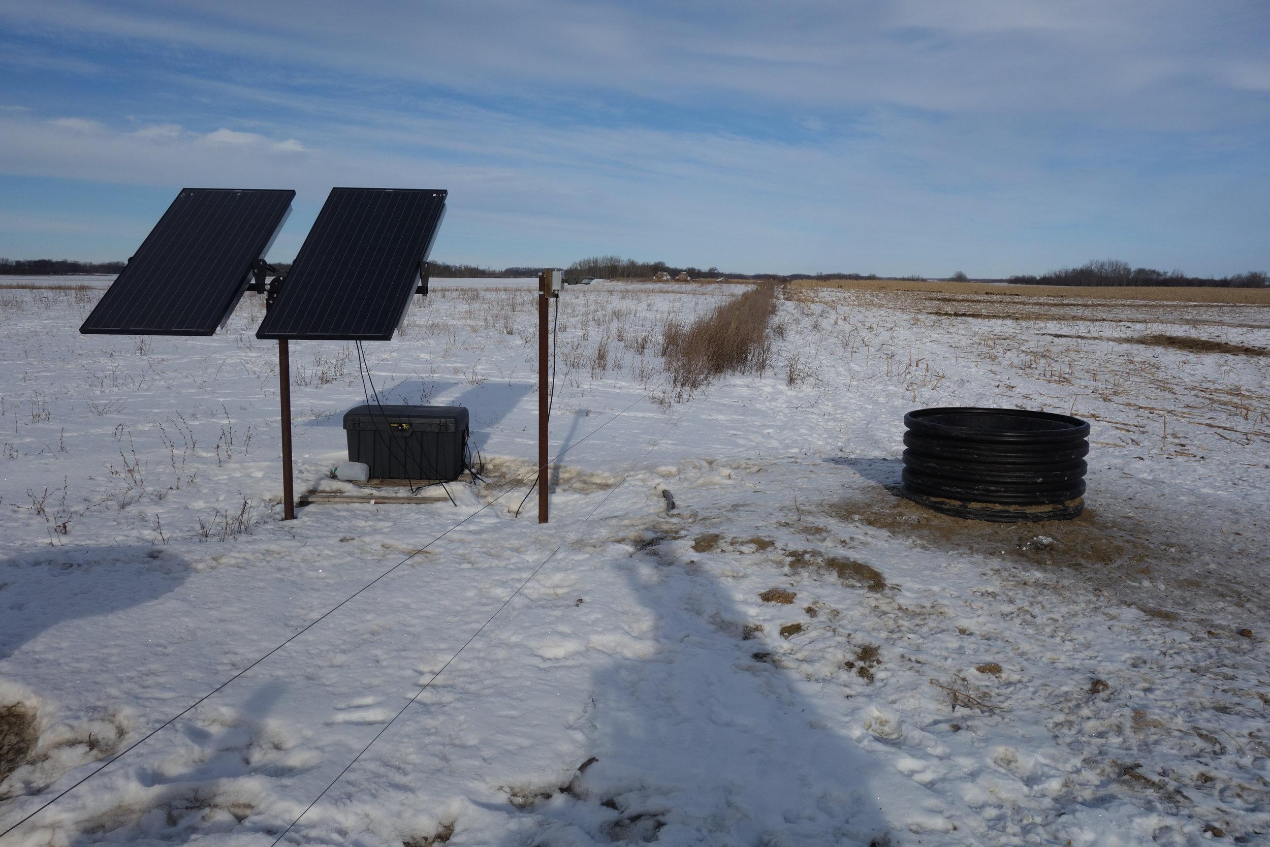 Solar Winter Water System