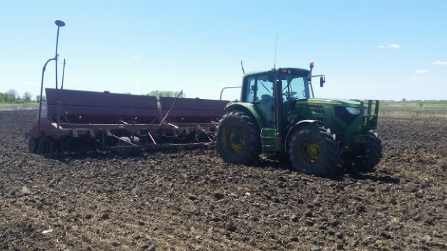 Seeding equipment for the Extensive Winter Grazing Project at Brookdale 2017