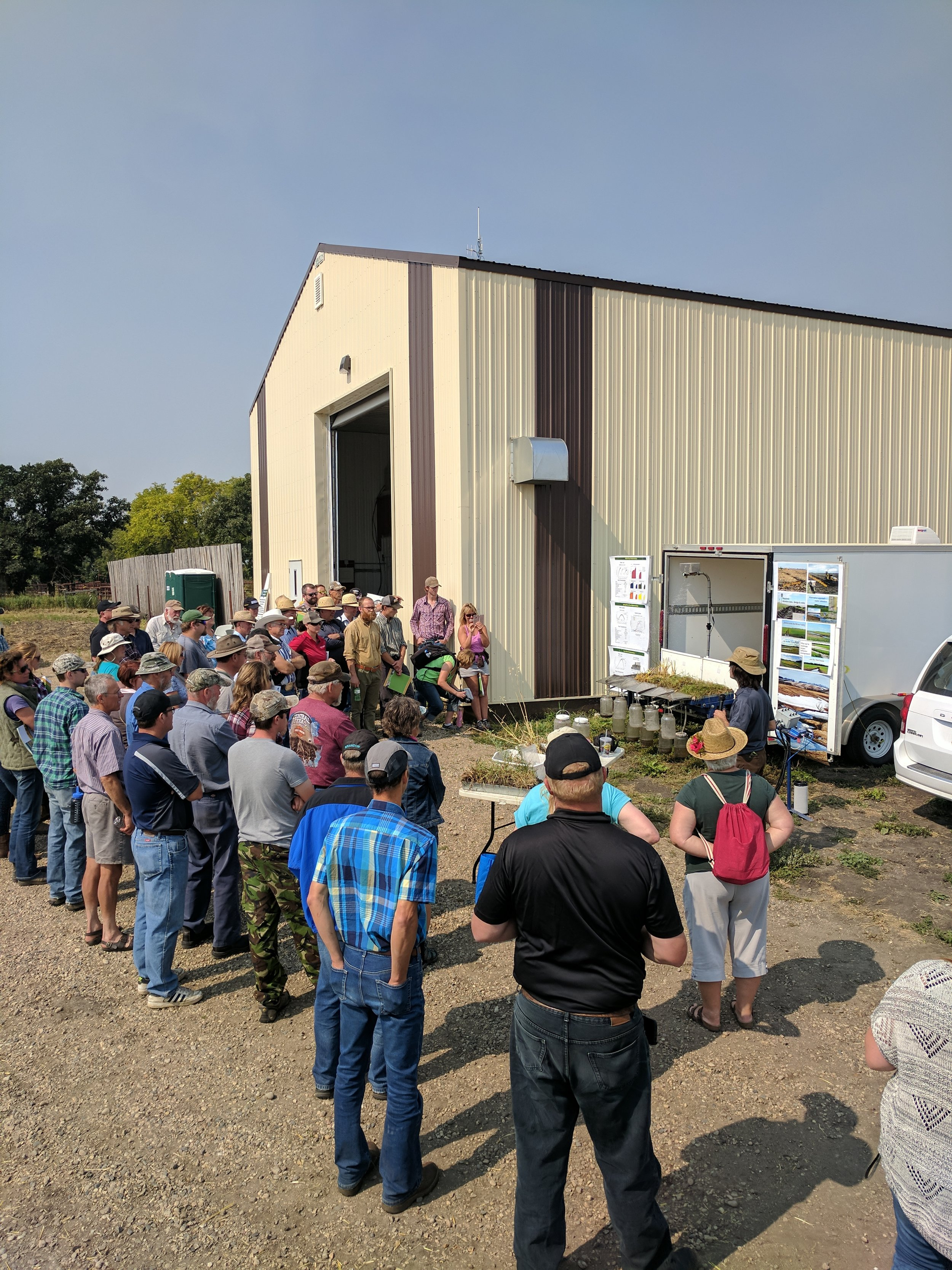 Mitch Timmerman, MB Agriculture, discussing soil health at the Brookdale Pasture Day 2017