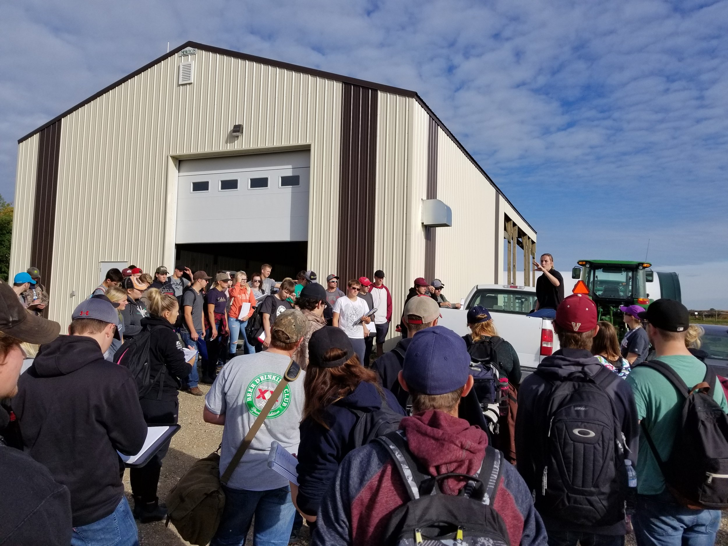 1st year ACC Agribusiness and Land and Water students at the Brookdale Farm 2017