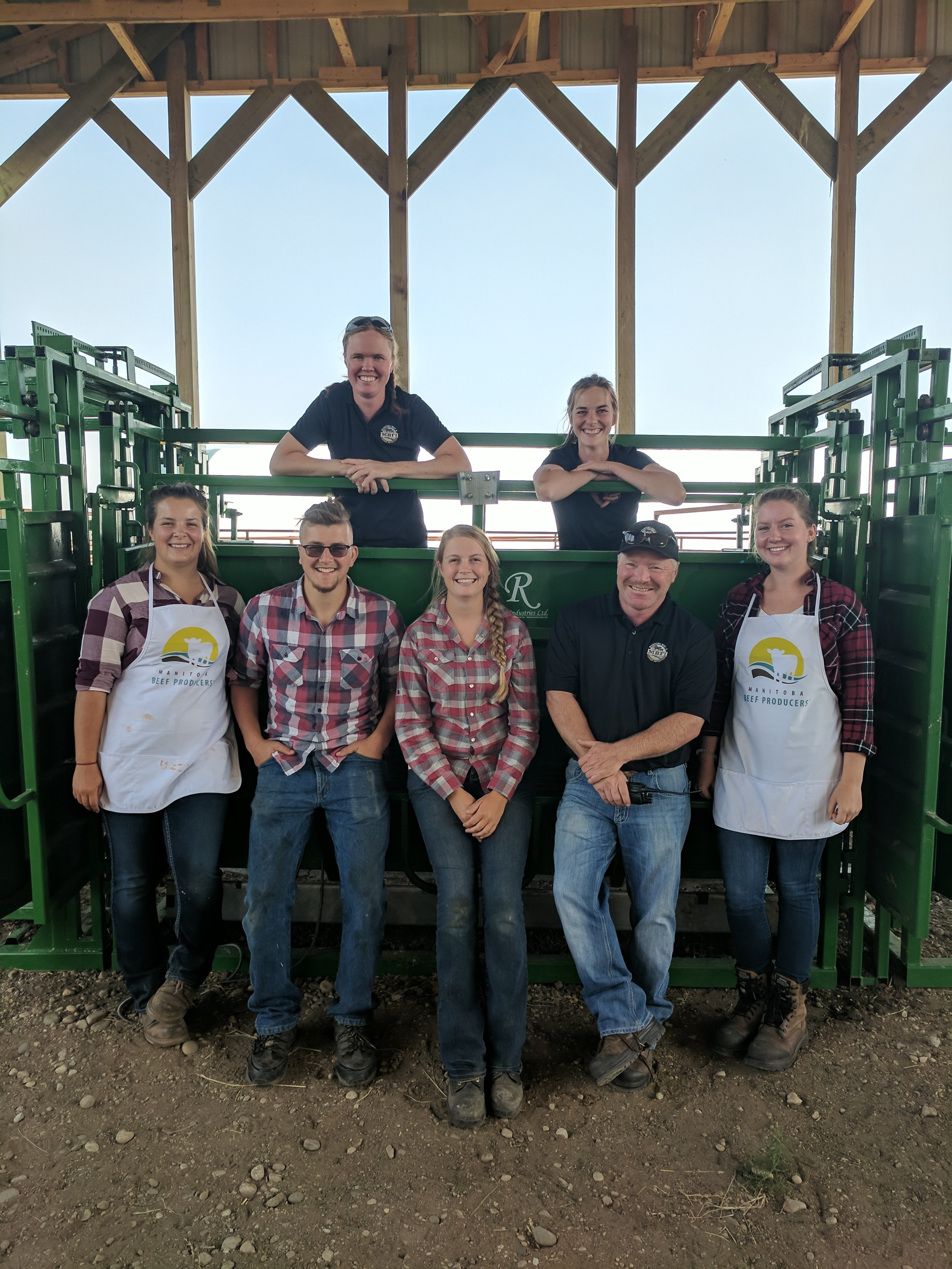 MBFI summer staff at the Brookdale Pasture Day 2017
