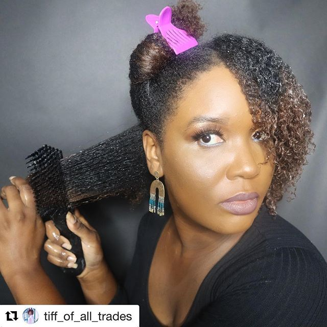 #Repost @tiff_of_all_trades with @get_repost ・・・ Hey Family👋🏾👋🏾 I bought a new detangling brush a couple of weeks ago, and after using it a couple of times I have a Review. ✨REVIEW TIME✨  This brush is by @brushwiththebest  1. I like that the bristles are not so close together 2. I like that it's easy to clean 🙌🏾 3. I still have to work in small sections because my hair is Super thick. But it doesn't take me as long to detangling  4. I like that the products don't build up on it as much as other detangling tools. I'm thinking it's because the teeth on the brush are further apart. 5. I've been using it consistently on wash day since purchasing I do recommend this brush for my ladies with thicker hair. ✨ ✨This is NOT A sponsored post. I bought this with my money and even if it was sponsored I would give my honest review to you all🖤 • •  #naturallyshesdope #naturalhairloves #kinkyhairrocks #naturalhair #kinkychicks #kinks2curls #respectmyhair #blessedwithkurls #healthyhairjourney #curls #washandgo #blackgirlmagic #melanin #nhdaily #myhaircrush #teamnatural_ #type4hair  #dallasnaturals #dallasblogger #secretcurlsociety #womenempowerment  #protectivestyles #curlyhair #momoffour #curls #blackmomsblog #washandgo  #moisturizing #hairgrowth #naturalhairjourney