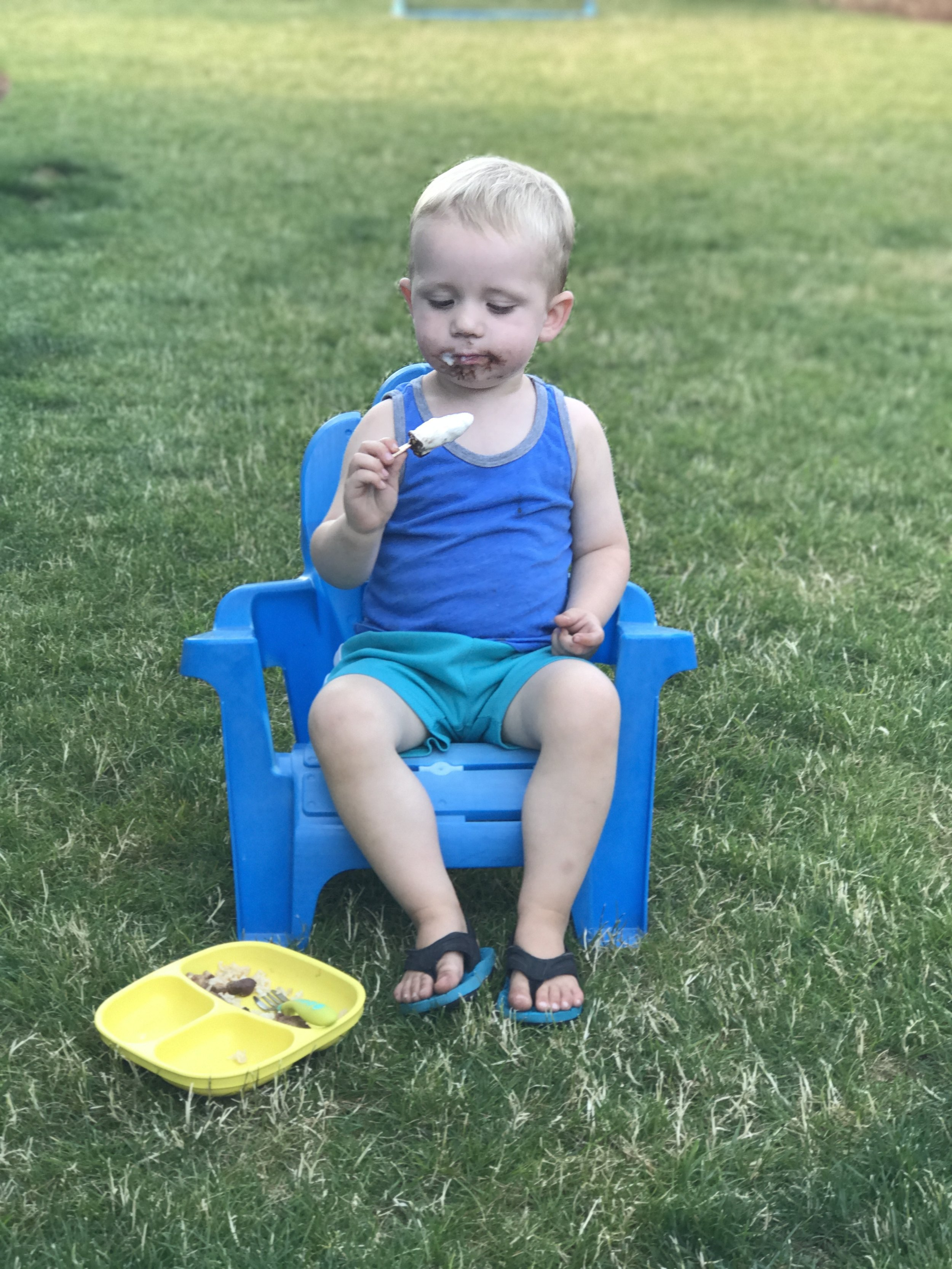 Carter and his Ice cream