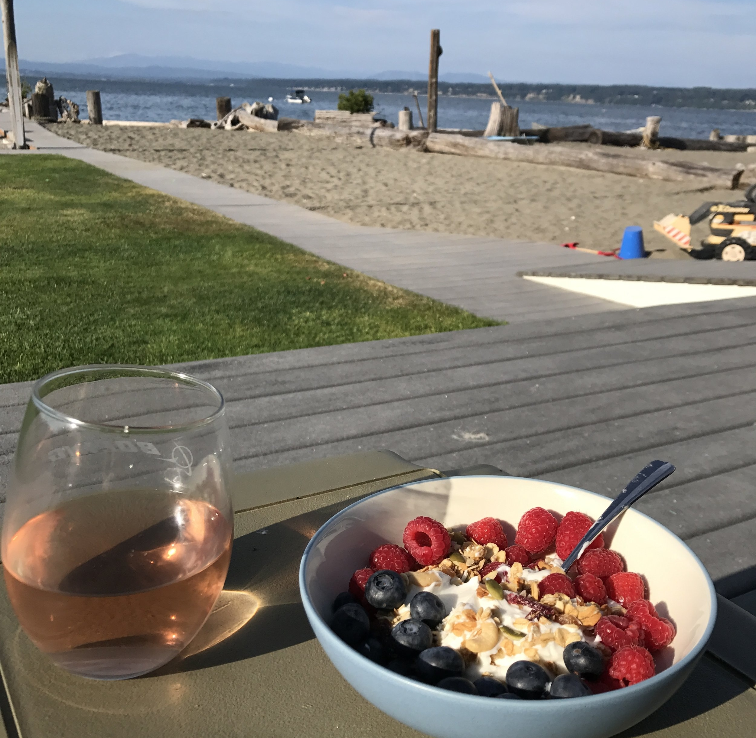 Because rose balances out fruit and greek yogurt well