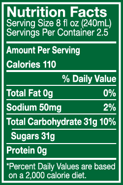 Calculating the numbers on a typical label indicates you'll consume over 19 teaspoons of sugar in this soft drink.