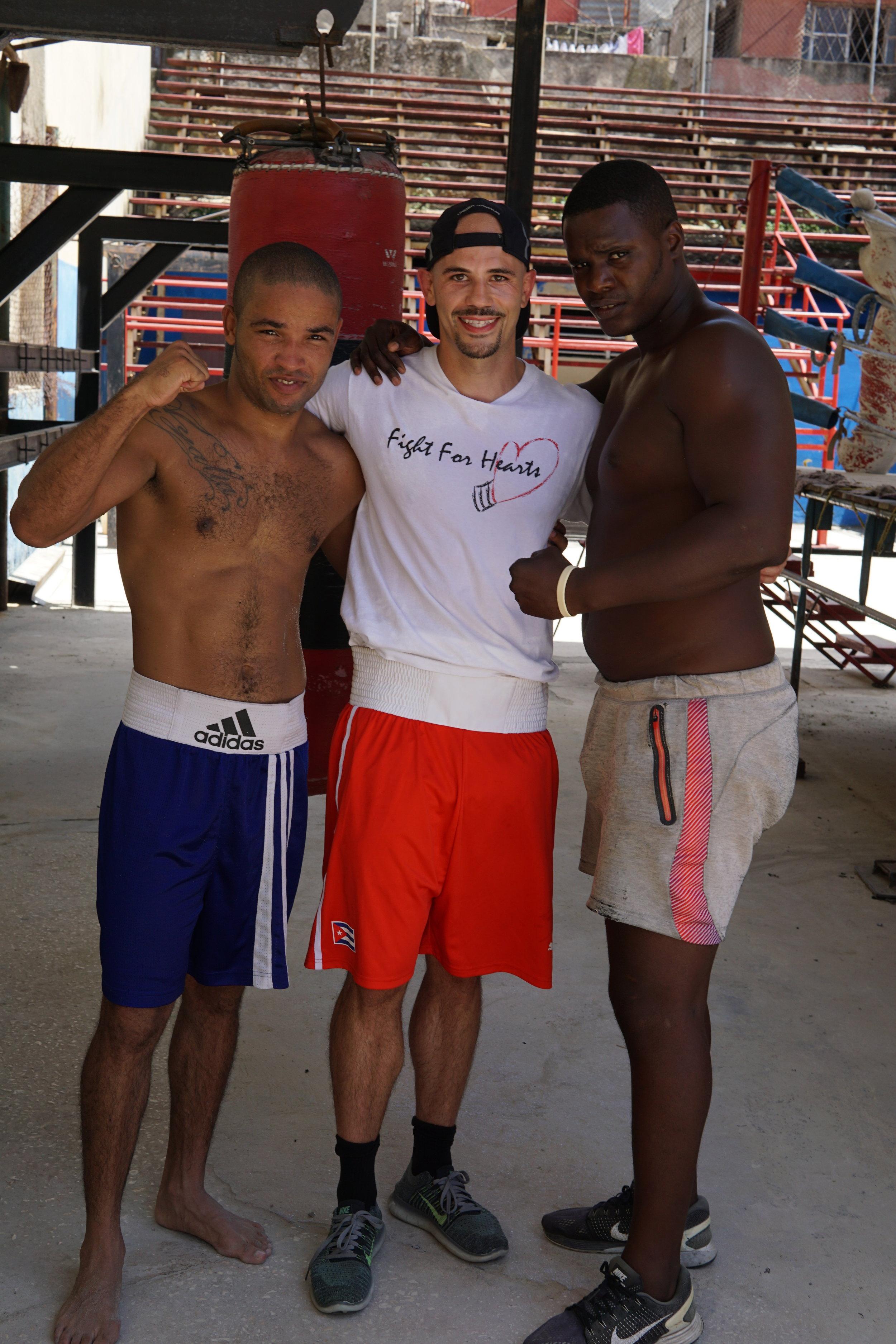 Wearing Cuban National Team Shorts (red)
