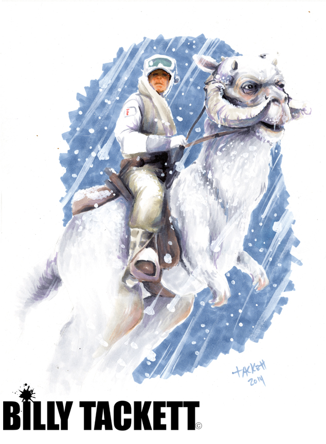 LUKE RIDING TAUNTAUN