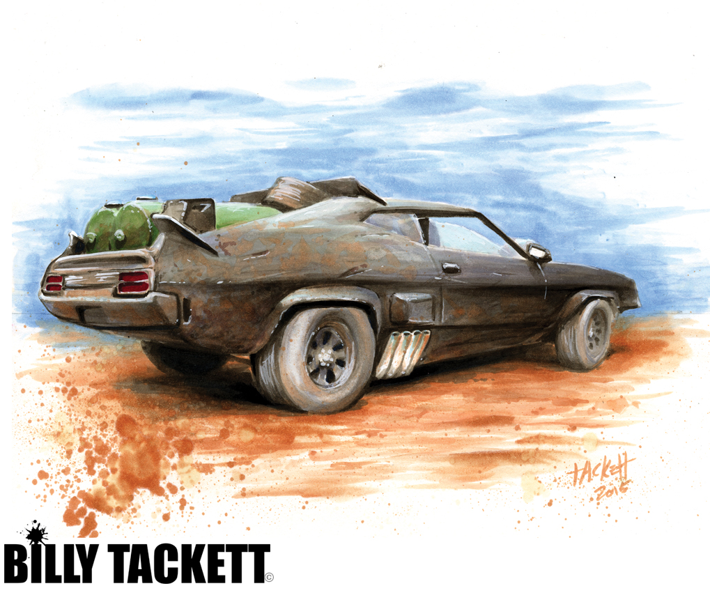MAD MAX SPECIAL INTERCEPTOR NIGHTRIDER Art Print By Billy Tackett