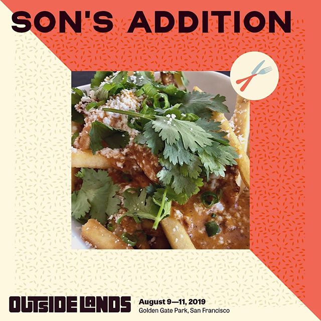 OUTSIDE LANDS GIVE AWAY!  Dirty Fries and Carnitas Banh Mis are back again at @outsidelands this year! To celebrate, we're excited to announce we're giving away TWO 3-day passes to our lucky followers! #olfood  Here are the rules:  1️⃣ 'like' this post 2️⃣ Follow @sonsaddition on IG or like us on Facebook  3️⃣ Share a photo of Son's Addition  4️⃣ TAG FRIENDS in comments below  The last chance to enter is July 26th at 12pm. . . . . #food #foodie #eeeeeats #eatersf #tablehopper #outsidelands2019 #sfchronicle #foodandwine #sfdining #missionsf #sonsaddition #contest #thrillist #sanfranciscofood  #bayareafoodie #musicfestival #festivalfood #dirtyfries #infatuationsf #sfgate
