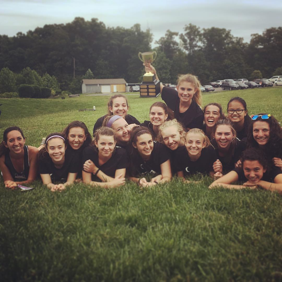 HB Woodlawn Pandamonium celebrate winning Virginia High School State Championships. (Leslie Keller)