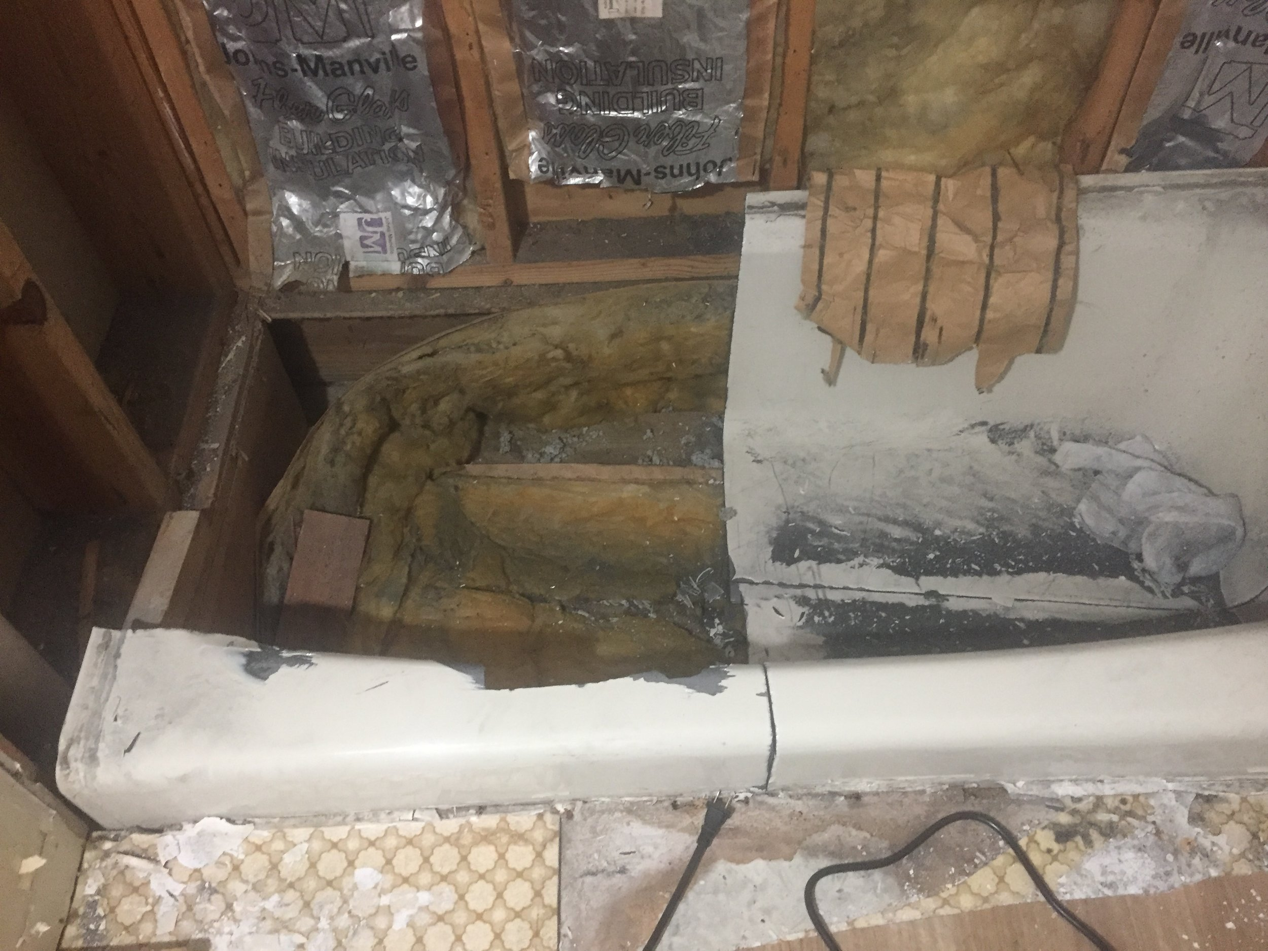HALL BATH: Removing Cast Iron Tub Continued