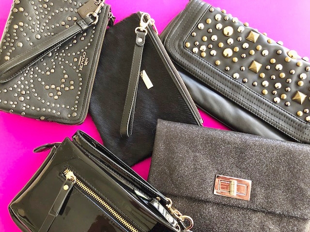 The clutch in black textures and tones