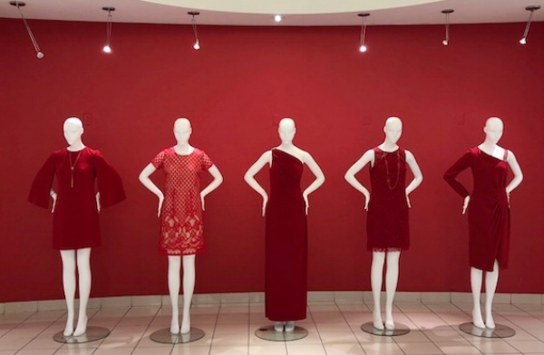 Designer fashion at the Hudson's Bay Department Store Vancouver
