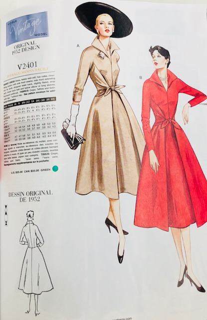 Dress patterns from Vogue's Vintage Collection, above and below.