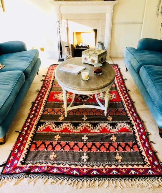 A hand made rug from Morocco.
