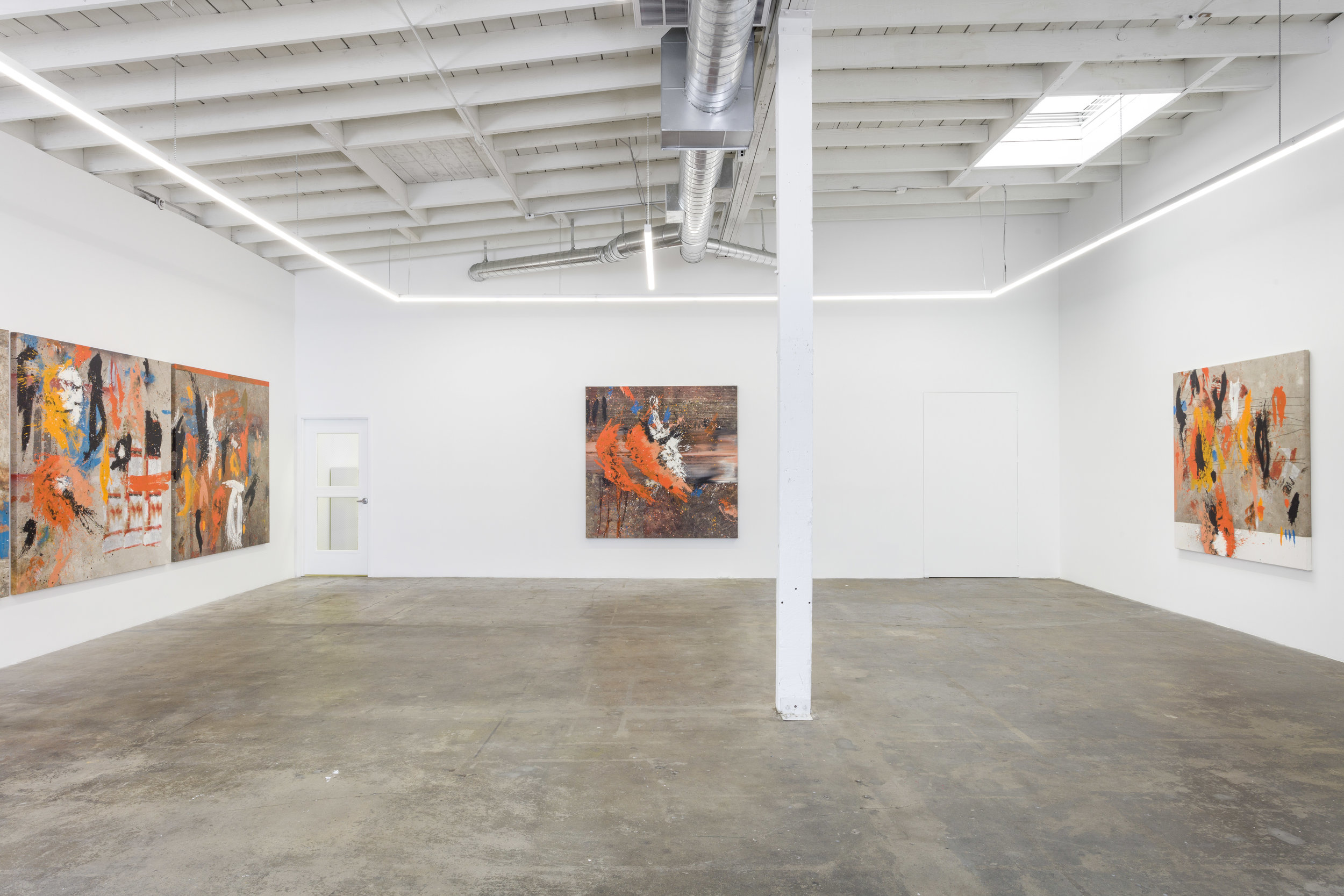 """The Pendulum Movement (The L.A. Paintings),"" installation view. Image courtesy Baert Gallery."