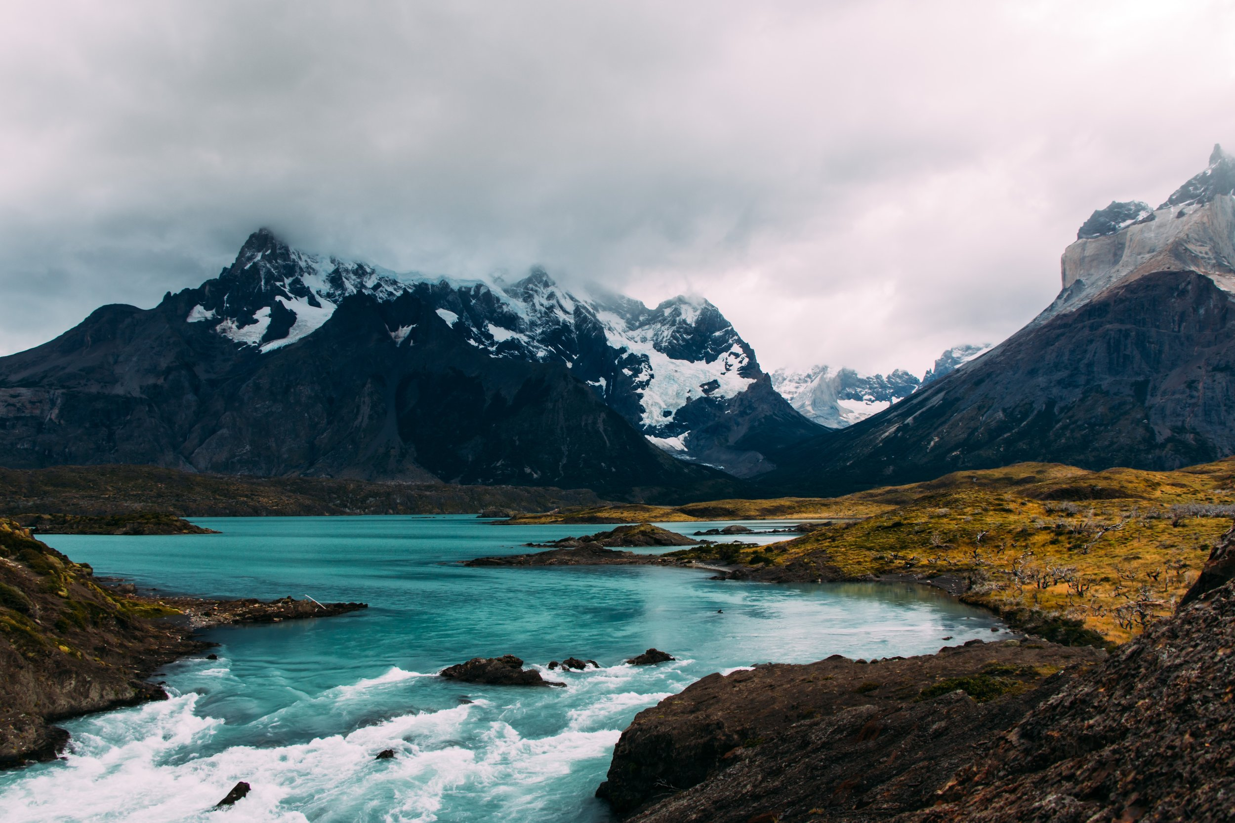 glacier with beautiful mountain backdrop in Patagonia