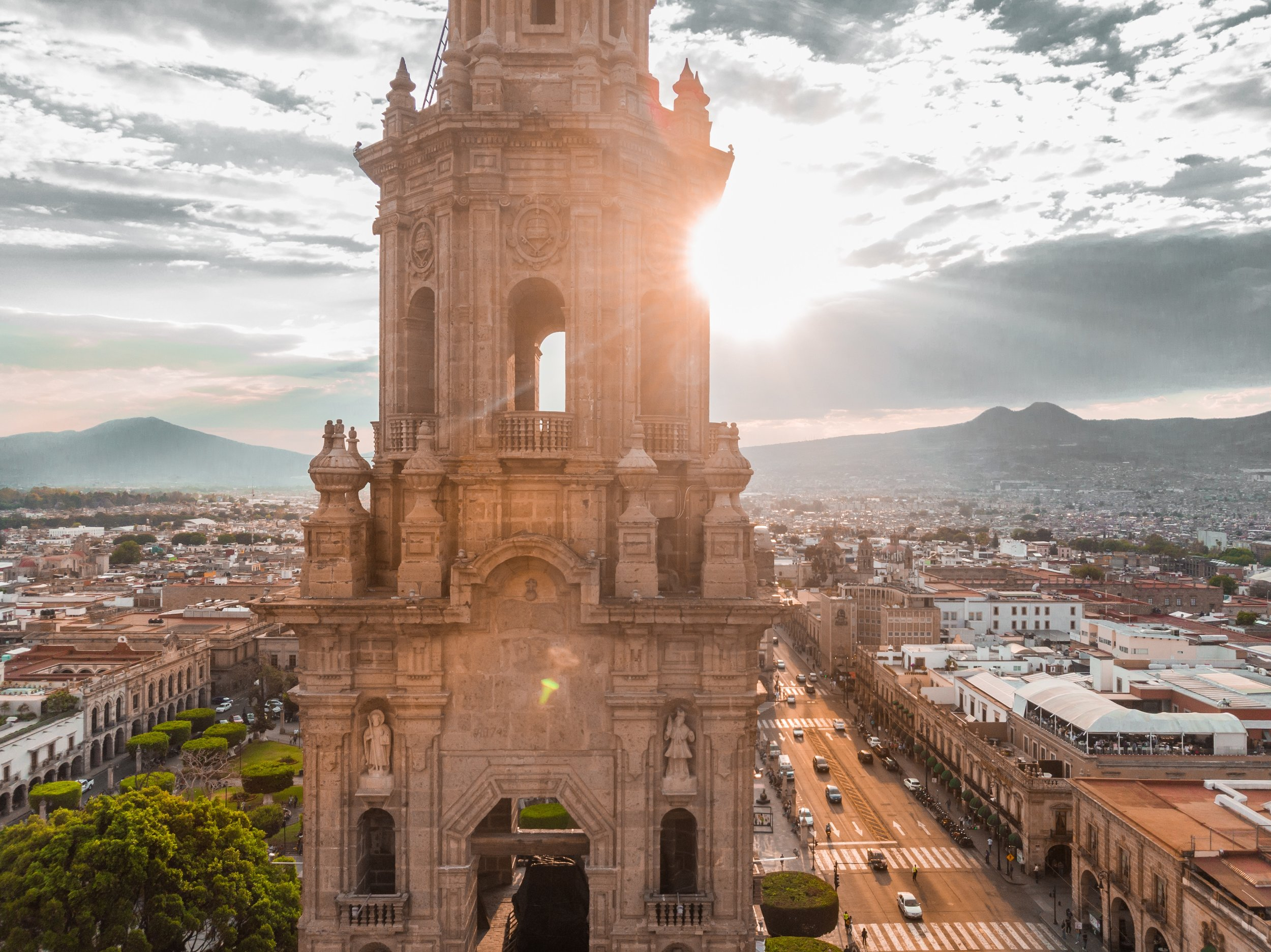 historic building in mexico city during sunset