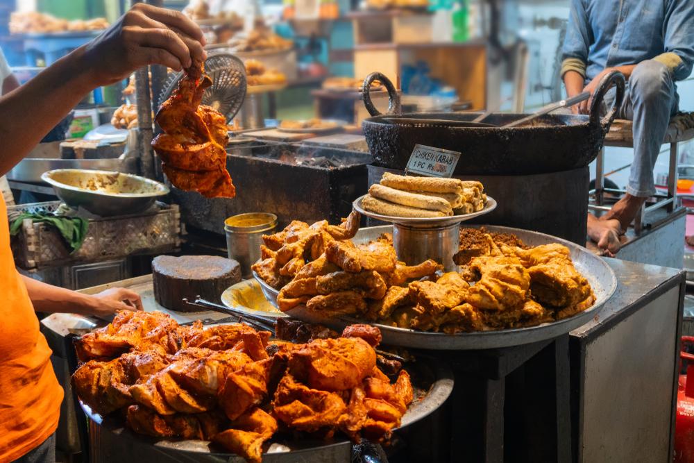 restaurant serving tasty Indian cuisine