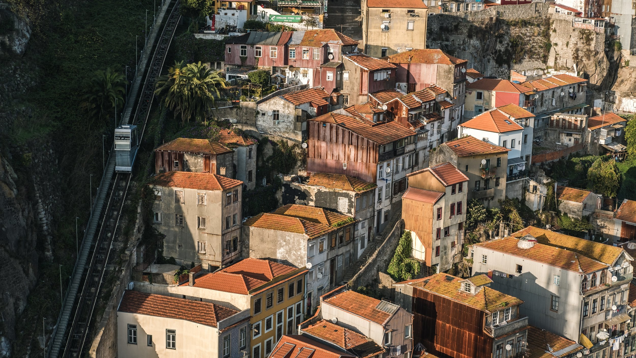 view of porto houses in the sunlight