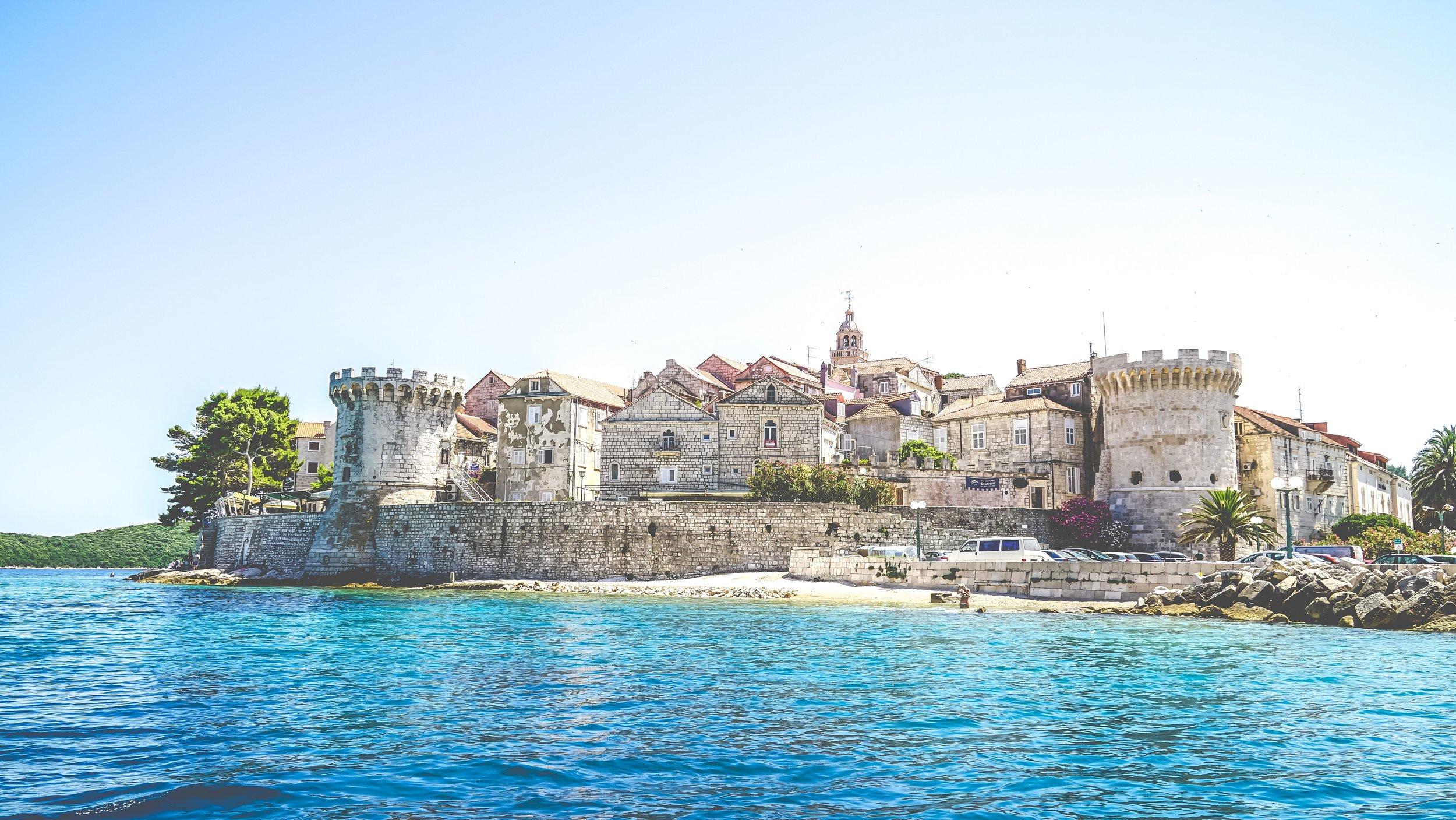 castle on the beach in croatia
