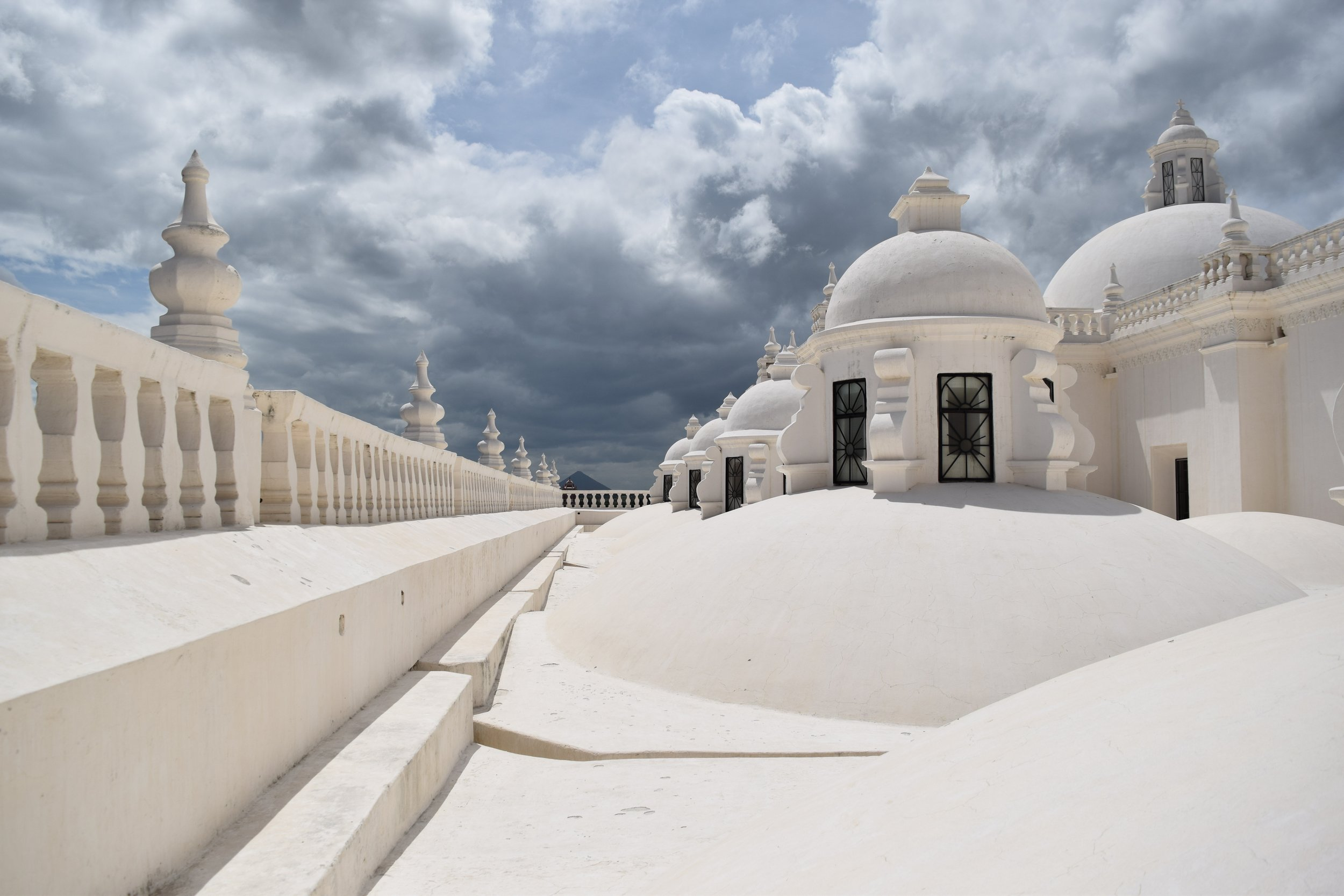white domed cathedral in leon nicaragua