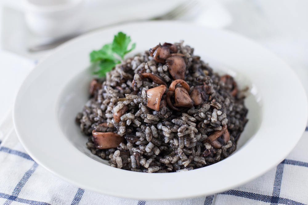 traditional montenegrin cuisine, black risotto