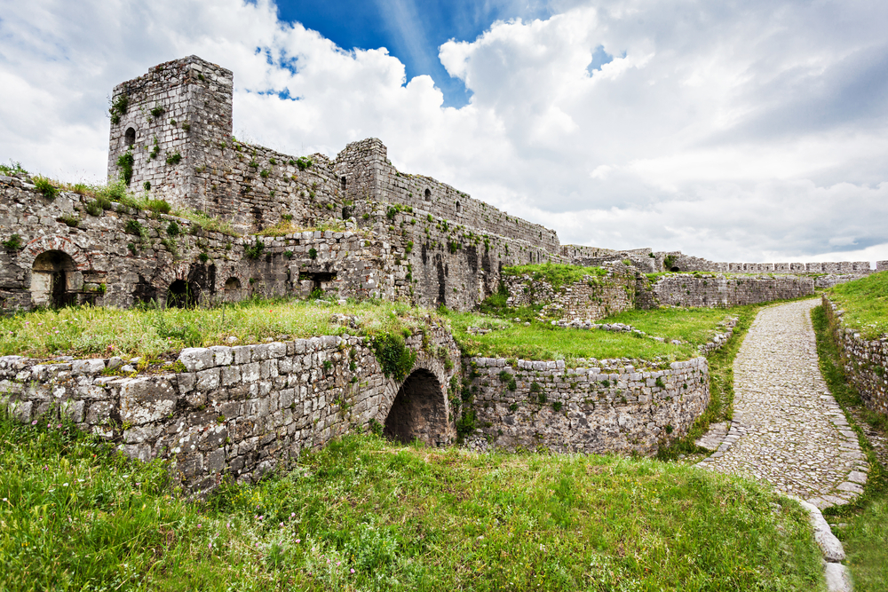 ruins of rozafa castle in shkoder albania