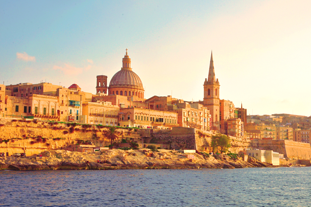 Panoramic view of the ancient capital Valletta, Malta