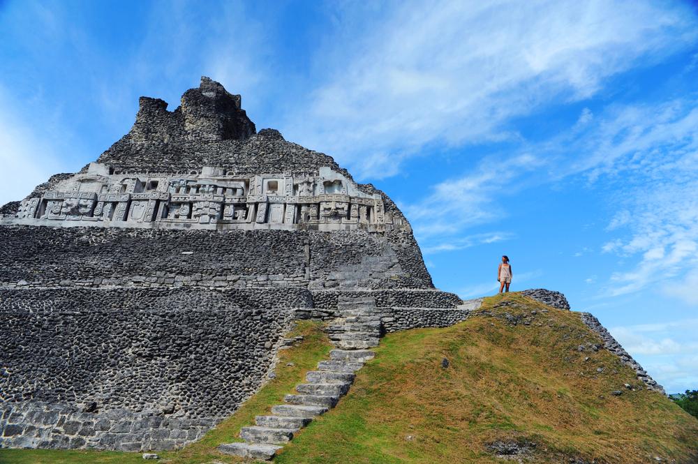 mayan ruins at xunantunich site in san ignacio belize