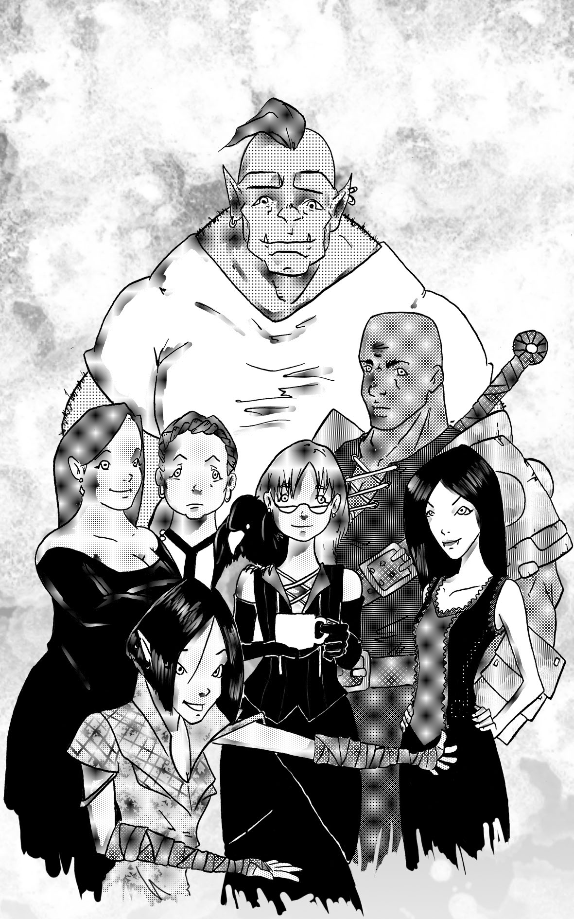 Therapy Quest Interior Group Character Illustration