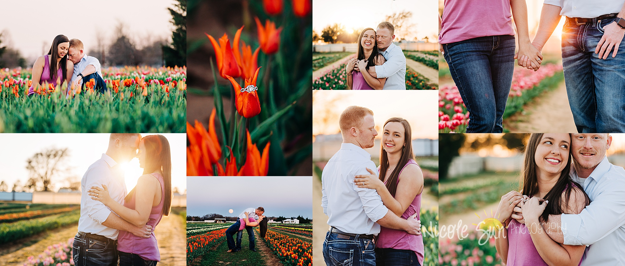 Engagement Session - Texas Tulips